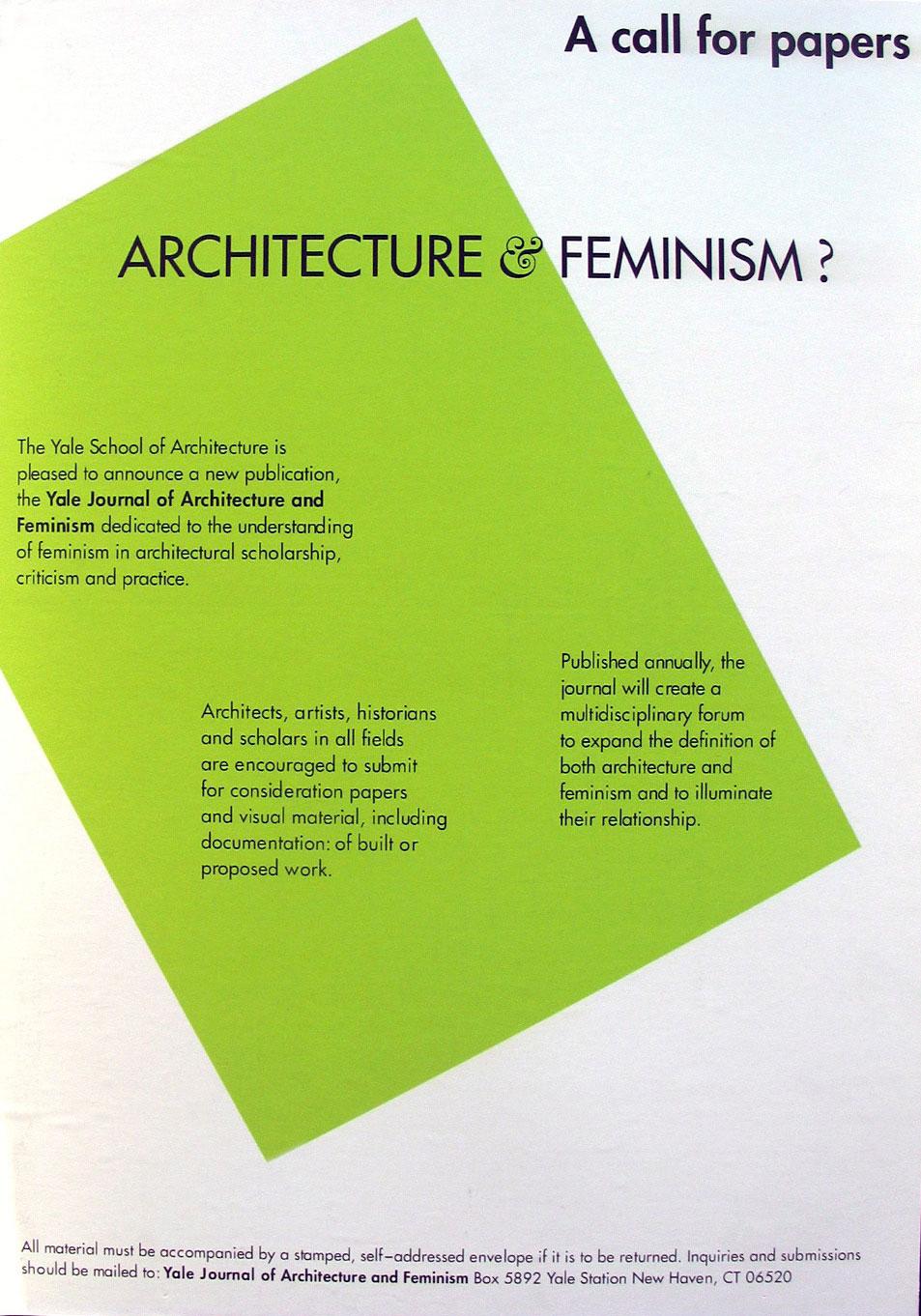 Yale University Architecture Program Jan Fairbairn